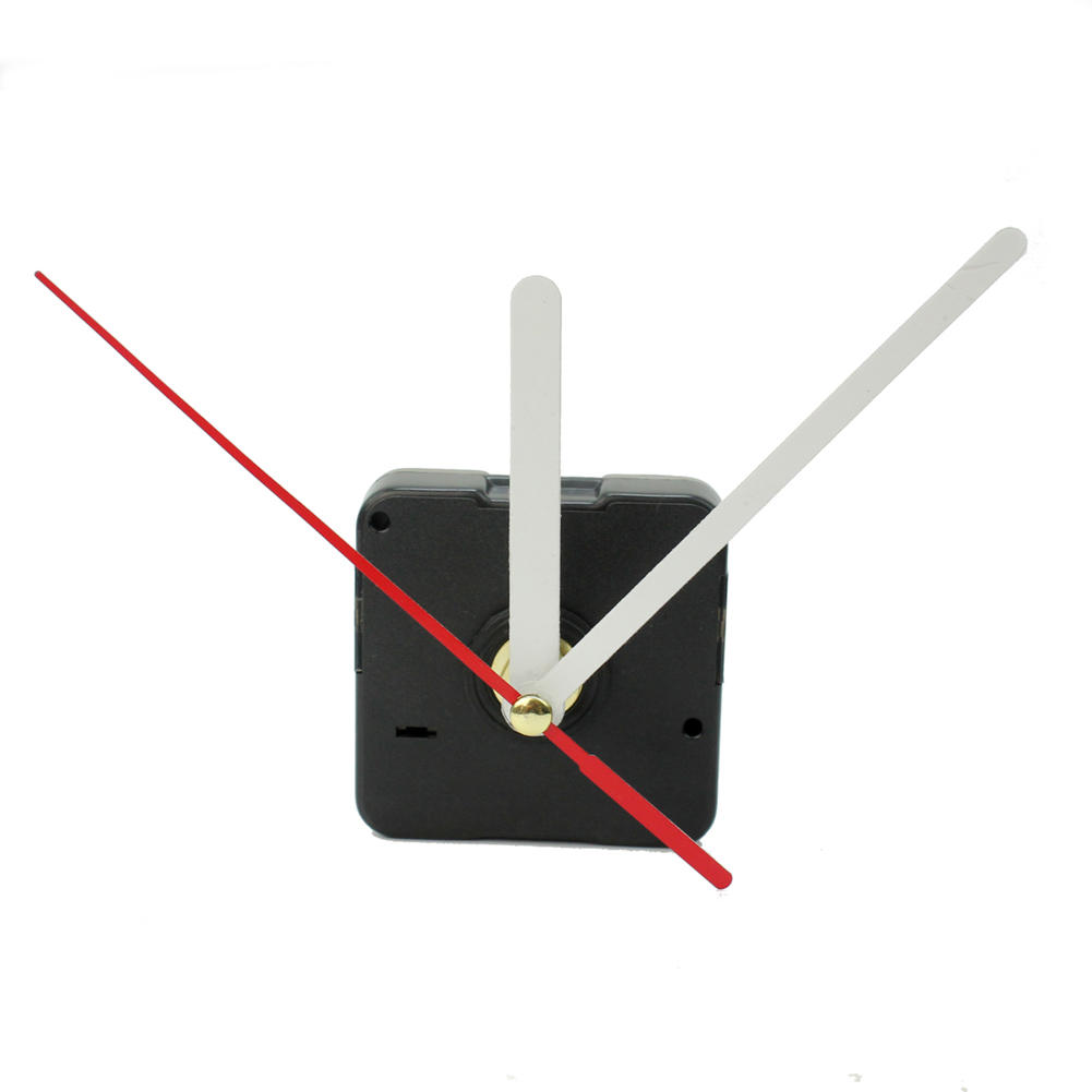 Black Quartz Wall Clock Movement Mechanism With White Red Hands Silent Mode DIY Repair Replace Parts Kit Home Decorations(China (Mainland))