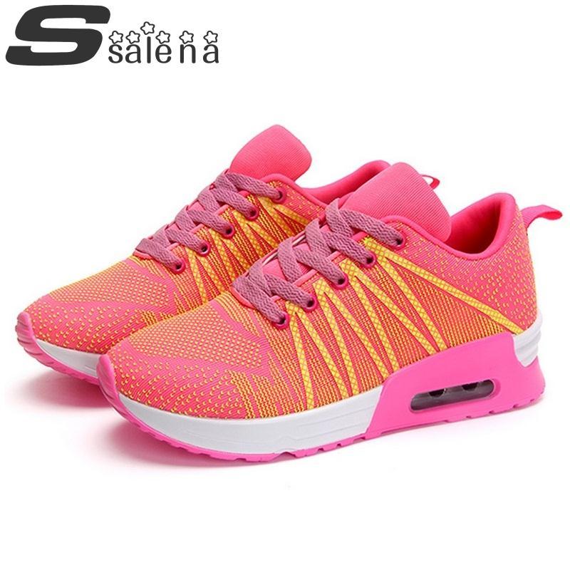 New Women Shoes Women Casual Shoes Fashion Rainbow Shoes Non Slip Damping Platform Shoe #B2543<br><br>Aliexpress