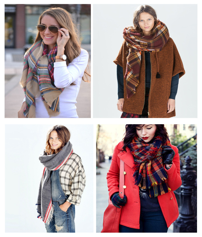 za major Winter 2015 Tartan Scarf Desigual Plaid Scarf cuadros New Designer Unisex Acrylic Basic Shawls Women's big size Scarves(China (Mainland))