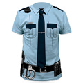 Men Police 3D T Shirt Doctor Gentleman Adult Funny Party Cop Pirate Vampire Pilot Sailor Uniform