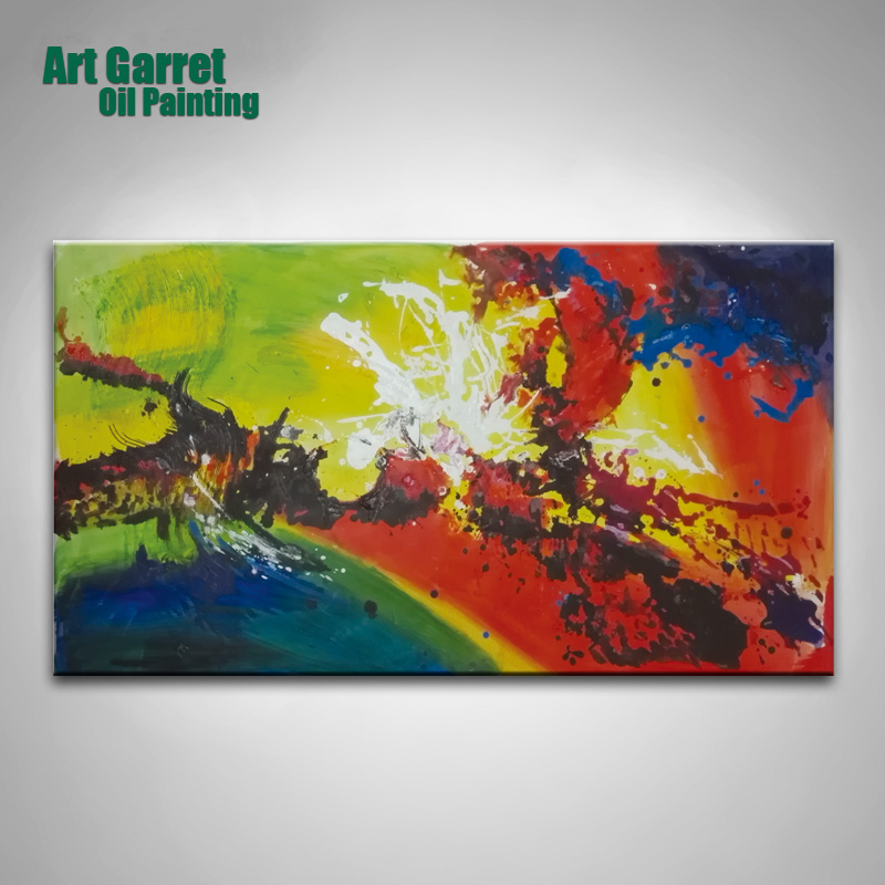Handmade Abstract Oil Paintings large canvas art cheap modular picture wall art for living room cuadros decorativos(China (Mainland))