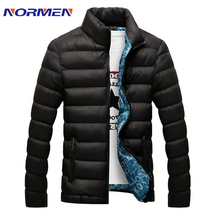 2015 Newest Mens Brand Solid Winter thick cotton Jacket Men Stand Collar Fashion Quality Parka Men Overcoat(China (Mainland))