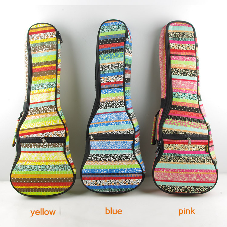 Unique gift luxury portable vintage canvos 23 concert bass guitar bag backpack padded case soft gig cover color pattern pocket(China (Mainland))