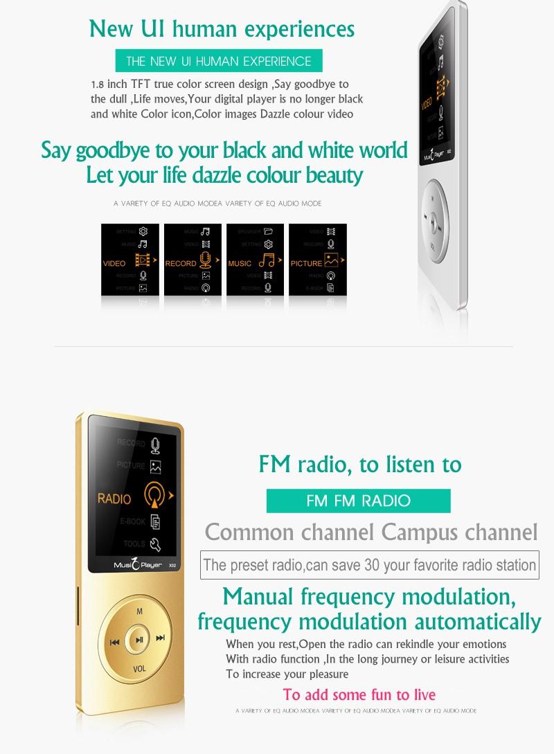 Купить 2016 Новый Встроенный Динамик MP3 Плеера 16 ГБ хранения и 1.8 Дюймов Экран FM диктофон многофункциональный Медиа-Плеер
