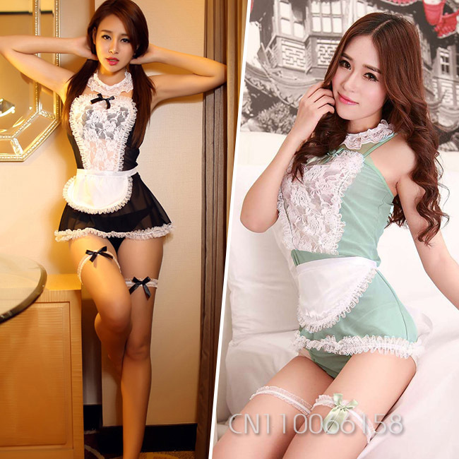 3 Color Womens 2015 Lace Sexy Lingeries Female Maid Ladies Dress Stripper Sets Panties Babydoll Teddies Cosplay Costume 4096(China (Mainland))