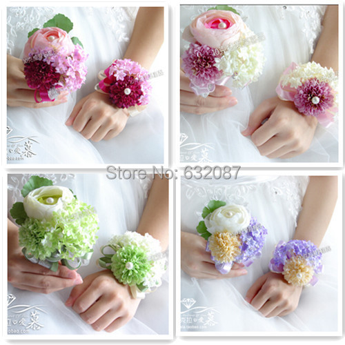 Corsage Flower Set Bride Bridesmaid Groom And Important Guests Wedding