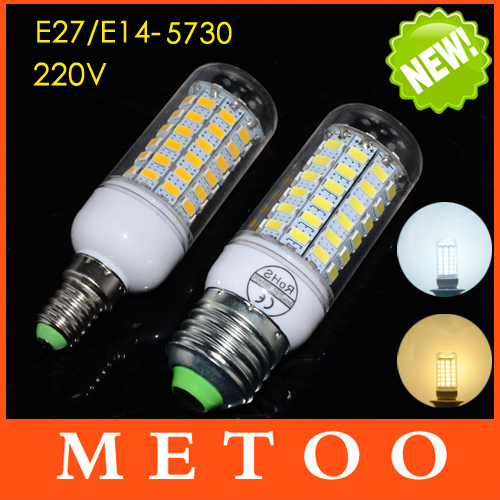 Led Lamp E14 E27 Led Corn Bulb 220V 240V 5730 SMD 3W 5W 7W 12W 15W 18W 20W Lampada Led Light Candle Spotlight Warm White CE Rohs(China (Mainland))