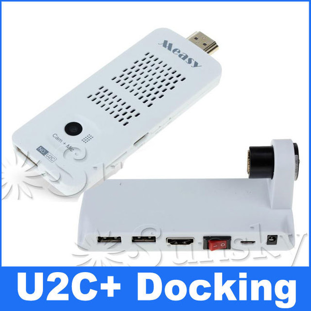 Measy U2C Dual Core Rk3066 Android 4.1.1 Built in Bluetooth+Camera+Microphone+AV output  HDMI Android TV Dongle and U2C docking