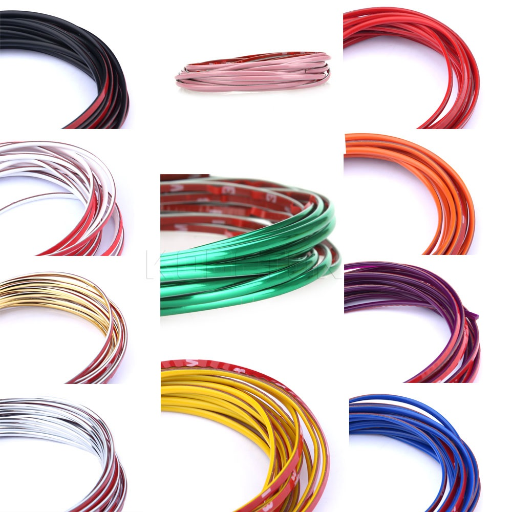 5M Car Auto Decoration Sticker Thread Styling Indoor Pater Car Interior Exterior Body Modify Decal Strip Decor Tool 7 Colors(China (Mainland))