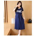 2016 Summer Cotton Maternity Dresses Pregnant Women Big Yards 200 Pounds Breastfeeding Dress Cotton Skirt Hot