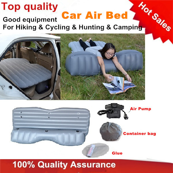 Hot Sales China Wholesale Waterproof Grey/Orange/Blue/Black Folding Baby Inflatable Air Bed Car Back Seat Over Air Mattress(China (Mainland))