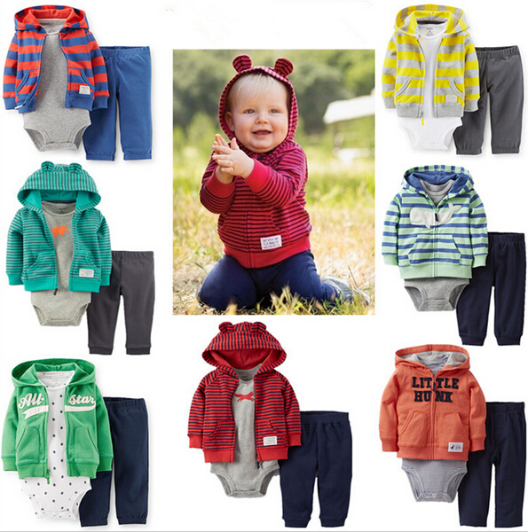 TZ-242,carters baby suits newborn baby Clothing,1Set/3pcs Or 2 pcs baby girls boys clothes Casual Set, infant Garment Retail(China (Mainland))