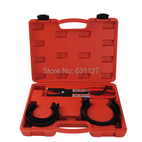 Professional Piston Ring Compressor Compression Cylinder Installer With Ratchet Type Pliers &amp; 6 Bands Tool Set Metric 73mm-111mm<br><br>Aliexpress