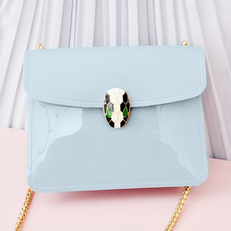 Women fashion candy jelly handbags 22 color fur candy handbags wholesale women handbags with snake metal buckle(China (Mainland))