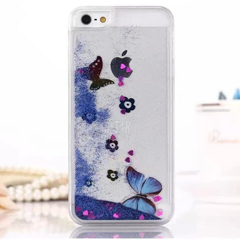 Artistic Fashional Glitter bling colorful Quicksand Butterfly Liquid hard back cover clear phone case Apple iphone 6 6s 4.7 inch - Corcossi Science & Technology CO., LTD store