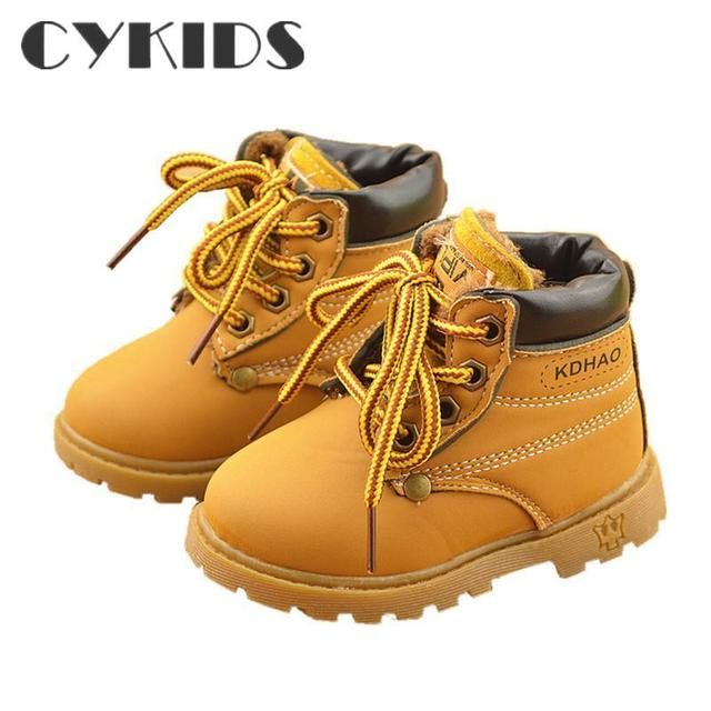Удобные детские ребенок снега сапоги обувь для девочек сапоги мода мягкое дно девочки загрузки 21-25 осень зима ребенок ботинки обуви