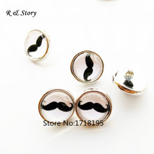 Buy 12mm Beard glass cabochon snap buttons DIY snap bracelets snap necklaces jewelry Simple Charming wholesale SB_271 for $6.27 in AliExpress store