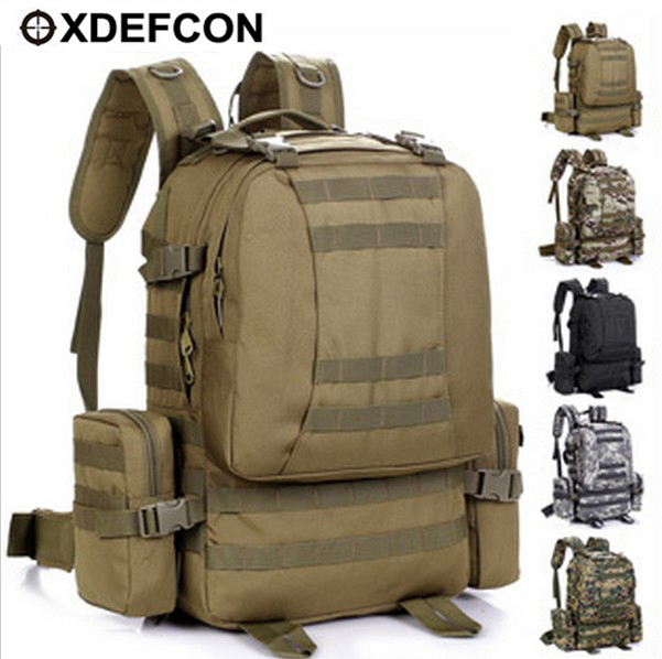 50L MOLLE Removable Pocket Militray Bag Outdoor Travel Large Backpack Bike Riding Camping Tactical Backpack Tactical Gear Bag