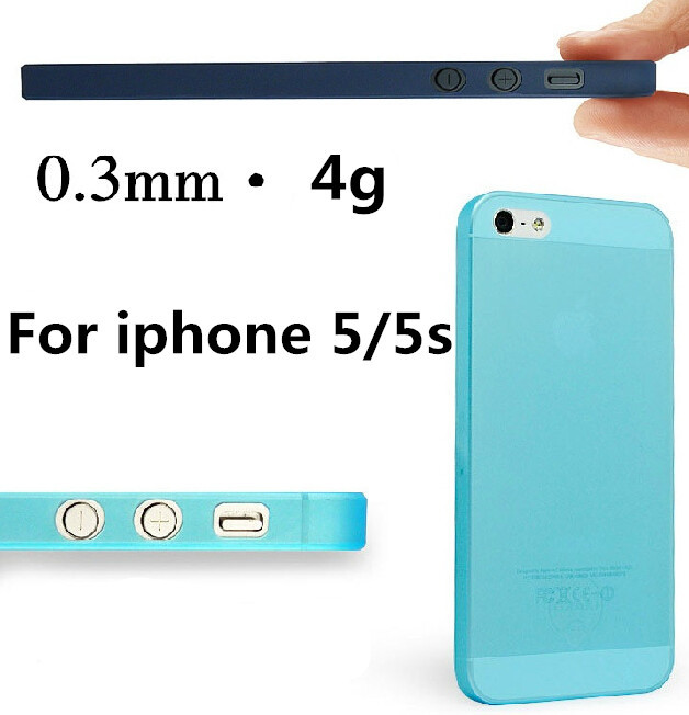 1 piece Free Shipping Ultra-Thin 0.3MM Only 4g Weight Cover/Case For Apple iphone 5 5s cases Moblie Phone Protection Shell(China (Mainland))