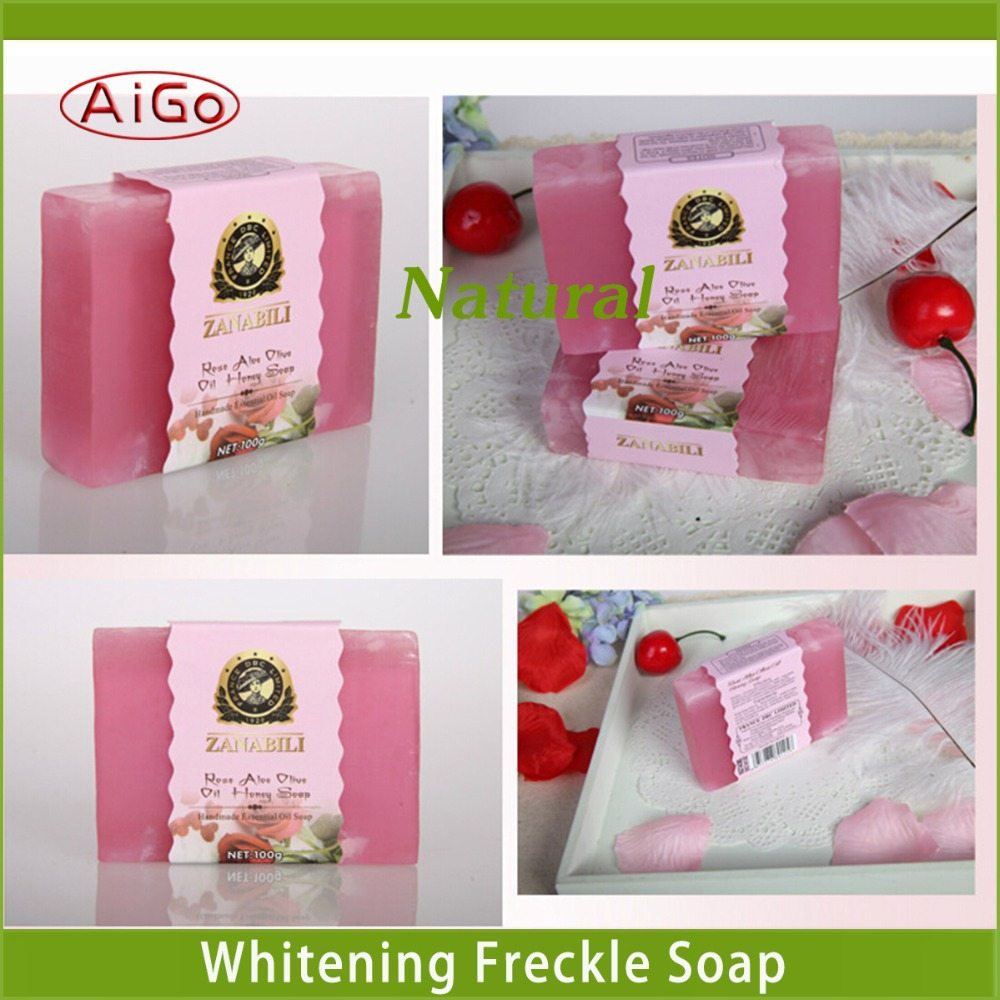 Rose Essential Oil Soap,100% Remove Yellow Whitening Cleansing Natural Soaps Melanin Hydrating Rose Essential Oil Soap(China (Mainland))