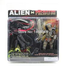 Free Shipping NECA Alien VS Predator Tru Exclusive 2-PACK PVC Action Figure Toy MVFG036(China (Mainland))
