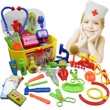 Children doctor Play House Toys Simulation Medicine Box Doctor Toys Stethoscope Injections Little Doctor Playsets(China (Mainland))