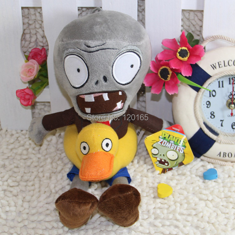 28CM (Duck Zombie) Plants vs zombies doll plush toy Doll Stuffed Animals Baby Toy for Children Gifts Wedding Gifts toys(China (Mainland))