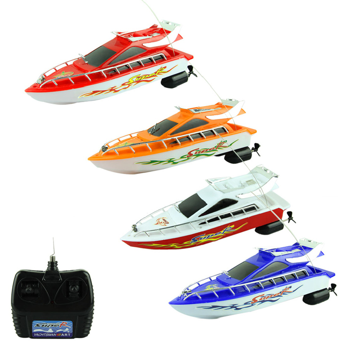 Fantastic  New 2014 Fashion Powerful Plastic Remote Control Boats Speed Electric Toys Model Ship Sailing Children Game Kids Ship(China (Mainland))