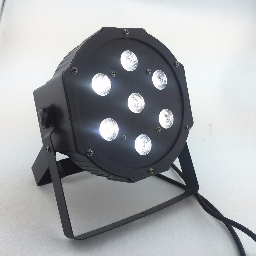 7x12w led Par lights  RGBW 4in1 flat par led dmx512  disco lights professional stage dj equipment Russia or China fast shipping