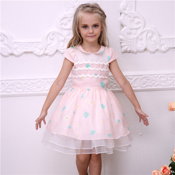 (6 pieces/lot) free shipping bonny billy children clothes summer party girls dress 5006A(China (Mainland))