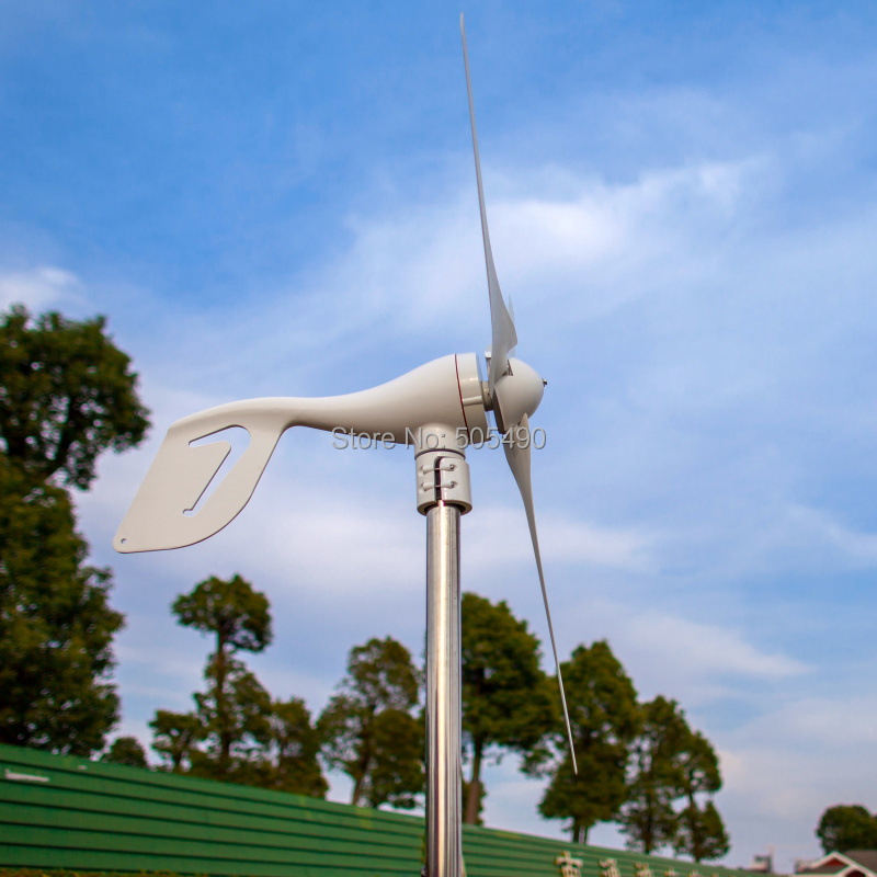 Wind Turbine 600W max +Controller; 3 Leaf blade wind power generation ...