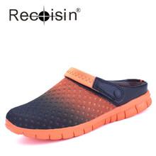 RECOISIN Plus Size Men Summer Slip-On Shoes Flats Men Beach Shoes Flats Footwear Chaussure Male Walking Shoes Slipper 927(China (Mainland))