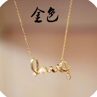 Min order is $10 fashion accessories unique love necklace