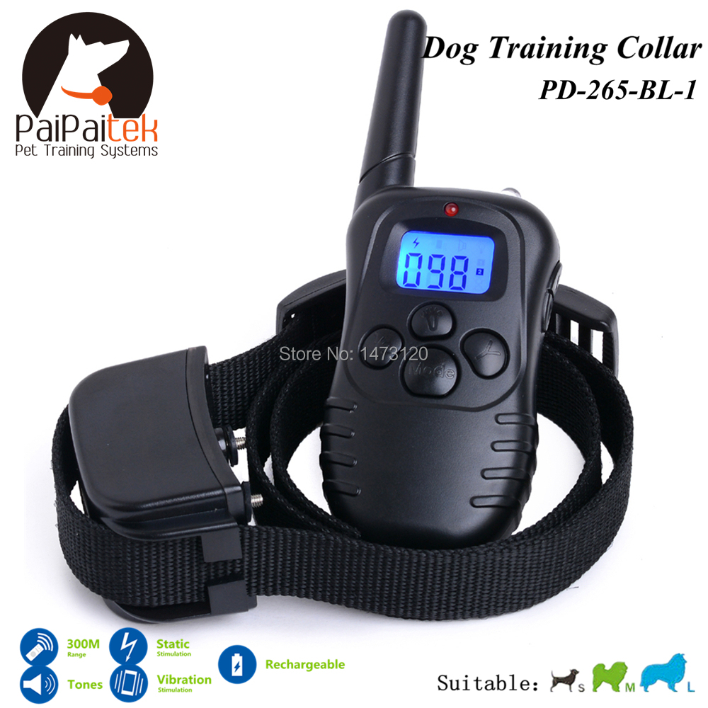 Здесь можно купить  Rechargeable Electric collar training Remote Manual Control Dog Collar Shock+Vibra+Electric With LCD Display Bark Control Remote  Дом и Сад