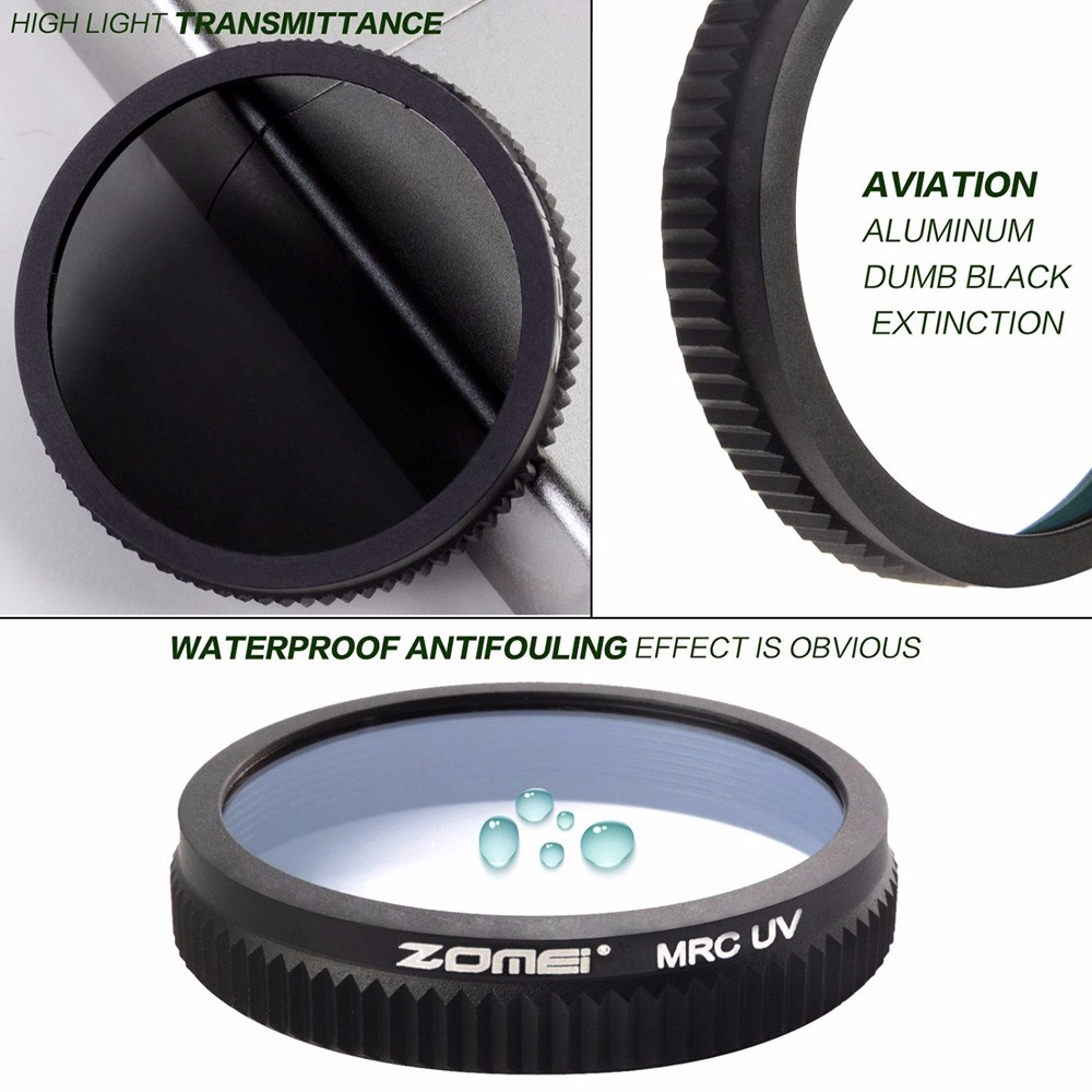 Zomei Multi-coated MCUV Lens Protective Filter For DJI Phantom 3 Professional & Adavnced 4K/HD Video Drone Camera Accessory