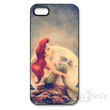 For iphone 4/4s 5/5s 5c SE 6/6s 7 plus ipod touch 4/5/6 back skins mobile cellphone cases cover The Little Mermaid Ariel