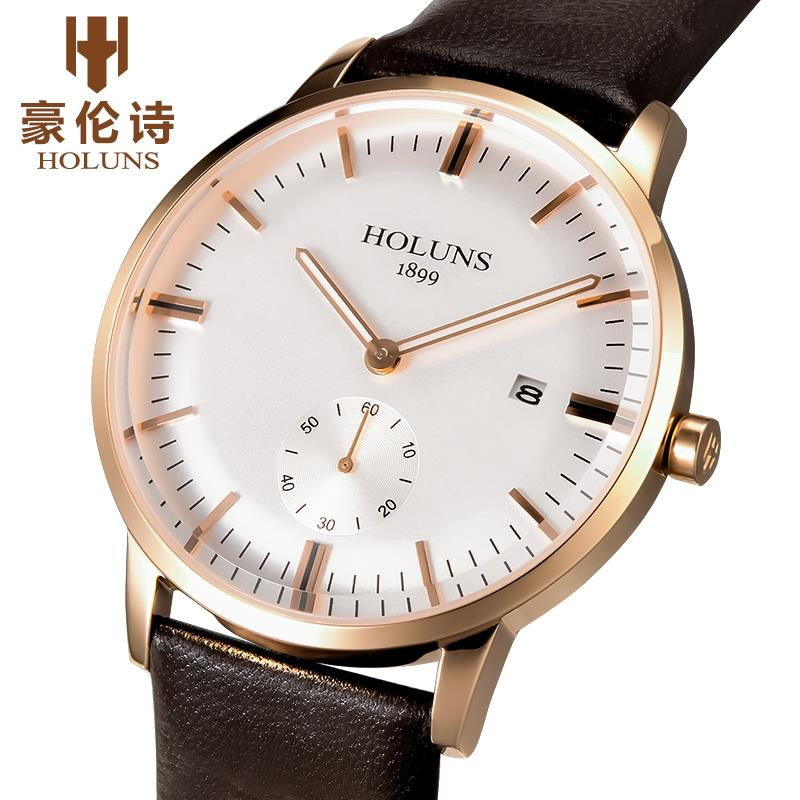 Watches Holuns Limited Fashion & Casual New With Tags Free Shipping New Waterproof Watch Male Table Quartz Men Belt Section 2015(China (Mainland))