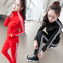 Sudaderas Mujer 2016 Spring Autumn Women Sport Suit Set Jogging Suits Patchwork Plus Size Tracksuit & Track Suit Tops+Pants(China (Mainland))