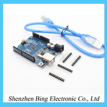 high quality 3d printer UNO R3 MEGA328P CH340 CH340G for Arduino UNO R3 + USB CABLE for 3d printer(China (Mainland))