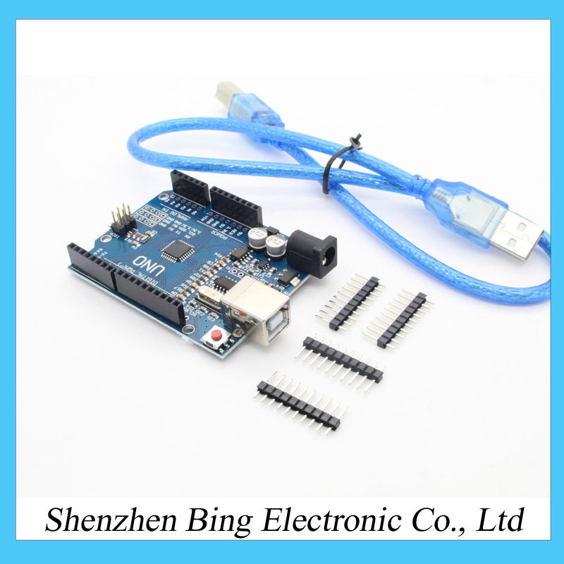 high quality UNO R3 MEGA328P CH340 CH340G for Arduino UNO R3 + USB CABLE(China (Mainland))