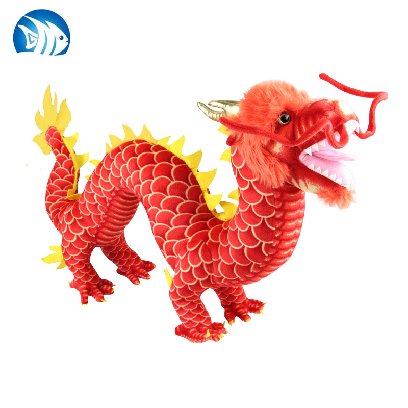big new creative plush dragon toy stuffed red Chinese dragondoll gift about 90cm a1214(China (Mainland))