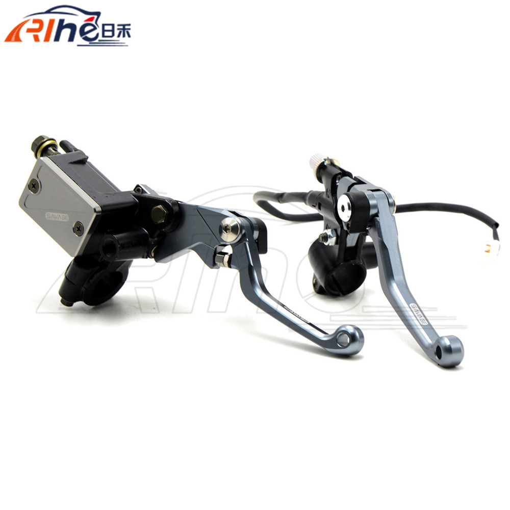 """Hydraulic Brake Cable Clutch 7/8"""" CNC Motorcycle Brake Master Cylinder Reservoir Levers For honda CRF250R 07 2008 2009 2010 2011(China (Mainland))"""