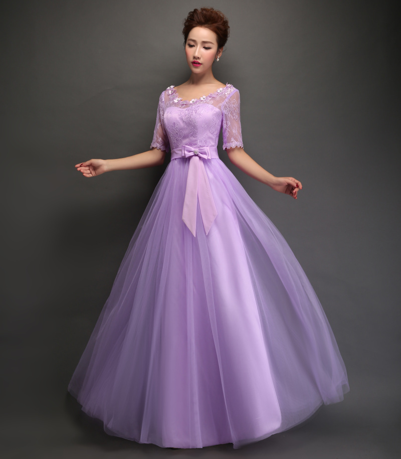 Purple Bridesmaid Dresses Long Sleeve - Wedding Dresses In Jax