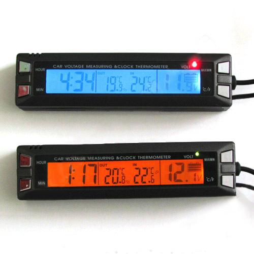 Multi fonction de voiture int rieur et ext rieur for Thermometre exterieur original