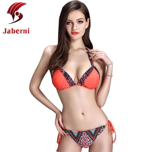 Пейсли леопарда южная корея стиль сладкий комплект бикини росту женщин ремень нижняя купальник повод летний пляж плавать оранжевый Biquini