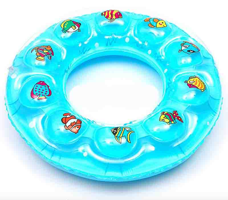 summer water swimming circle child and adult 60cm 70cm 80cm 90cm swimming rings patterns Double layer thickening PVC inflatable(China (Mainland))