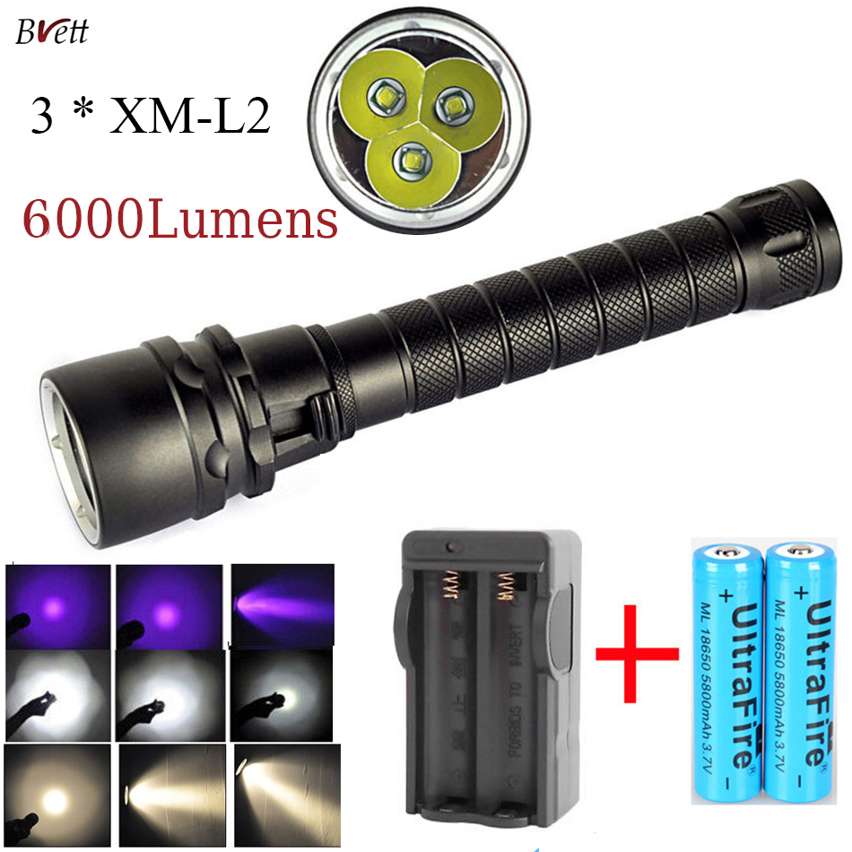 Aliexpress.com : Buy Led diving flashlight UV / White / Yellow ...