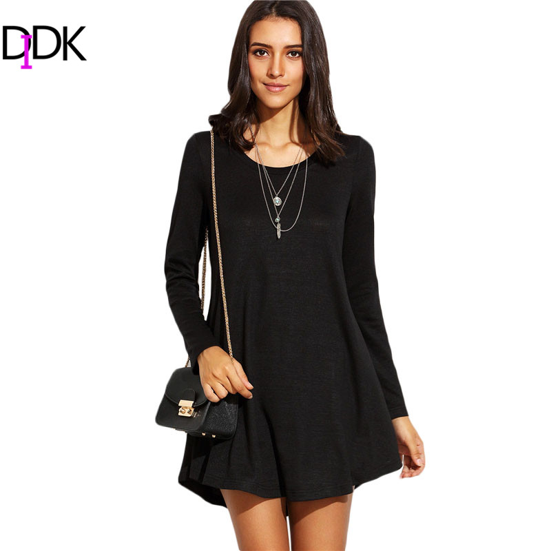 DIDK Women Casual Short Dresses For Autumn New Arrival ...