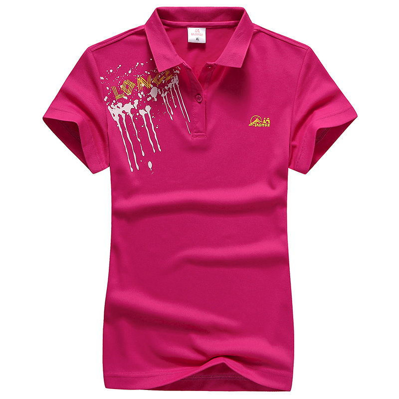 Hot sales summer woman cotton polo shirt short sleeve for Plus size golf polo shirts