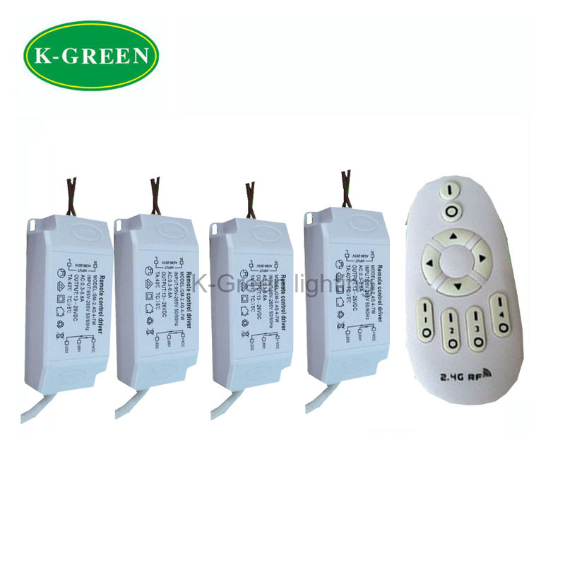 1X Hight quality 95-265V input 12-18W 2.4G constant current wireless dimmable led driver with remote controller free shipping(China (Mainland))